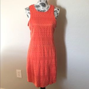 Sleeveless orange dress